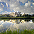 Mammoth Peak And Clouds Reflected by Tim Fitzharris
