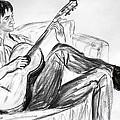 Man And Guitar by Asha Carolyn Young