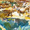 Man And Pool. Florida by John Singer Sargent