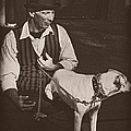 Man And White Dog In New Orleans by Kathleen K Parker