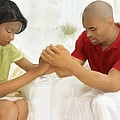 Man And Wife Pray by Vannetta Ferguson