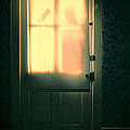 Man At Door With Cleaver by Jill Battaglia