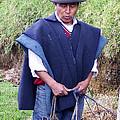 Man At Otavalo Animal Market Ecuador by Kurt Van Wagner