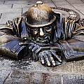 Man At Work In Bratislava by Jelena Jovanovic