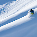 Man Big Mountain Skiing In The Chilkat by Scott Markewitz