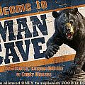 Man Cave Balck Bear by JQ Licensing