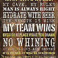 Man Cave Rules 2 by Debbie DeWitt