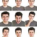 Man Face Expressions by Luis Alvarenga