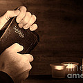 Man Hands And Bible by Olivier Le Queinec
