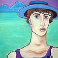 Man In Blue Hat by Linda Gail