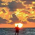 Man In Sunrise by David Call