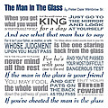 The Man In The Glass Poem by Ginny Gaura