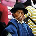 Man Of Cotacachi Ecuador by Kurt Van Wagner
