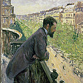 Man On A Balcony by Gustave Caillebotte