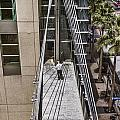 Man On Sky Bridge by Photographic Art by Russel Ray Photos