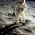Man On The Moon by Neil Armstrong/Underwood Archive