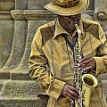 Man Playing Sax by Dean Wittle