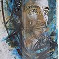 Man Portrait By C215 by David Resnikoff