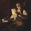Man Reading By Candlelight by Rembrandt Peale