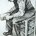 Man Reading The Bible by Vincent van Gogh