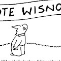 Man Runs Holding A Sign That Says by Charles Barsotti