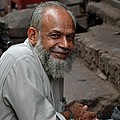 Man Smiles For Camera Lahore Pakistan by Imran Ahmed