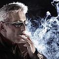 Man Smoking Cigarette by Konstantin Sutyagin