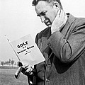 Man Studying A Golf Book by Underwood Archives