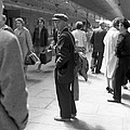 Man Waits In Heuston Station Dublin by Irish Photo Archive