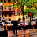 Reflections - New York City In The Rain by Miriam Danar
