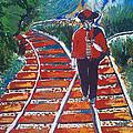 Man Walking On Rails by Ivan Ivanov