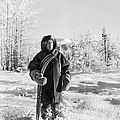 Man With Parka And Snowshoes by Underwood Archives