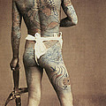 Man With Traditional Japanese Irezumi Tattoo by Japanese Photographer