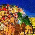 Manarola By Night by George Rossidis