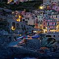 Manarola By Night by Michele Steffey