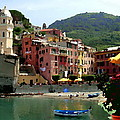 Waterfront - Vernazza - Cinque Terre - Abstract by Jacqueline M Lewis