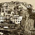 Manarola Italy Sepia by Timothy Hacker