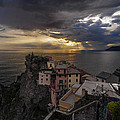 Manarola Sunset Storm by Mike Reid
