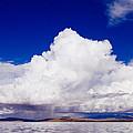 Manasarovar Mountain Lake Panoramic by Raimond Klavins