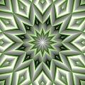 Mandala 107 Green by Terry Reynoldson