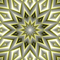 Mandala 107 Yellow by Terry Reynoldson