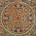 Mandala Of Heruka In Yab Yum And Buddhas by Lanjee Chee