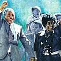 Mandela - Leaving Prison by Alan Levine