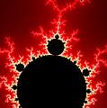 Mandelbrot Fractal Flash Power Red And Black by Matthias Hauser