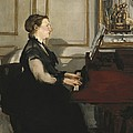 Manet, �douard 1832-1883. Madame Manet by Everett