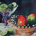Mango With A Twist Of Lime by Leslie Berman