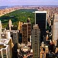 Manhattan And Central Park by Monique's Fine Art