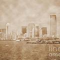 Manhattan And Liberty Island Vintage by RicardMN Photography