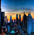 Manhattan At Sunset by Monique's Fine Art