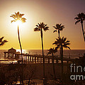 Manhattan Beach At Sunset by Stella Levi